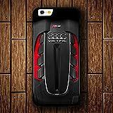 Aud Rs6 Boîtier en plastique dur en plastique uniquement pour Coque iPhone 7/Coque iPhone 8 (Universal Size)