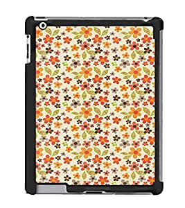Fuson Designer Back Case Cover for Apple iPad 2 :: Apple iPad 3 :: Apple iPad 4 (floral design variety rangoli wallpaper)