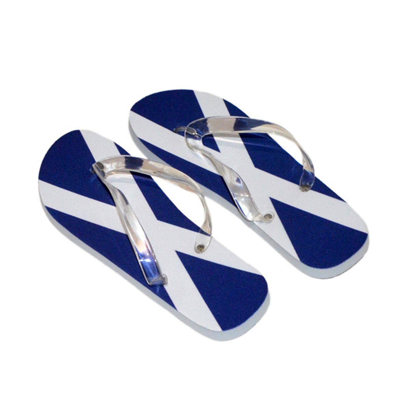 saltire scottish scotland flag mens flip flops black sole u0026 black
