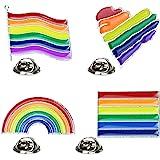 Ziyero 4 Pezzi Spilla Arcobaleno Bandiera Spilla con Decorazione Arcobaleno Durevole e Leggero Adatto per l'uso Quotidiano, B