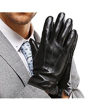 Harrms guantes de hombre para invierno de mejor genuino Nappa mejor cuero, con forro, mecanografiar/conducir disponible
