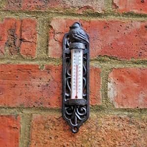 Thermomètre mural en fonte.