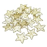 Draht Sterne gold flach, 5cm / 7,5cm, Drahtsterne !!! (5cm/ 20 Stück)