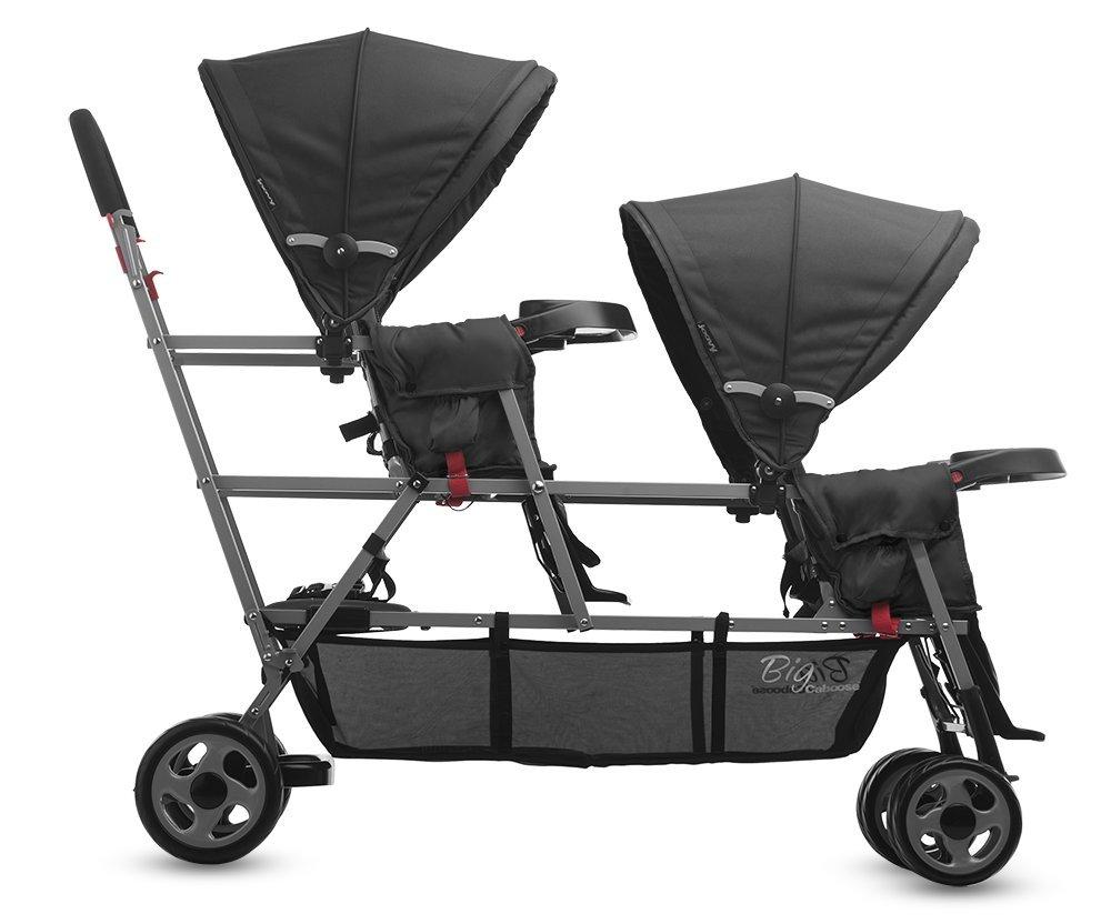 Joovy Bigcaboose Triple Stroller For Newborn Black Prams Pushchairs Strollers Nursery Baby Toddlers Uk