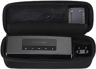 Brappo Eva Hard Case Travel Tragen Aufbewahrungstasche für Bose Soundlink Mini/Mini 2 Bluetooth bewegliche Drahtlose Lautsprecher, Den-Ladegerät und Ladestation (Schwarz)