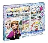 TM Essentials Frozen XXL Kreativ-Set, mit Ausmalbuch, Buntstiften, Stempeln, Stickern (auch 3D und Glitzer), Malfarben und klebenden Strass-Steinen, Geschenk für Mädchen
