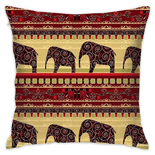 Sotyi-ltd - Funda de cojín Decorativa con diseño de Elefantes para el...