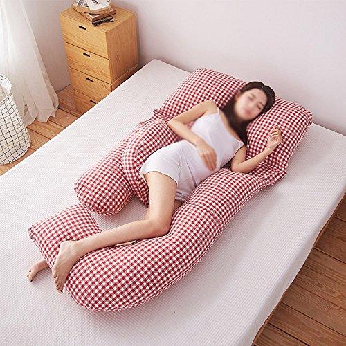 SPQRSXC Oreiller d'allaitement pour femmes enceintes, coussin de couchage pour soulèvement d'estomac, oreiller pour dormir à la taille, coussin en forme de G, coussin de soutien pour dormir côté femme