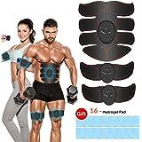 Estimulador Muscular Abdominales, EMS Electroestimulador Muscular Abdominales, ABS Estimulador Muscula para Hombre/Mujer, Abd
