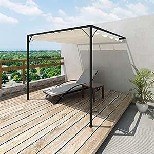 Tonnelle de jardin avec auvent rétractable: Amazon.fr: Jardin