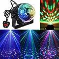 KINGSO Mini Disco DJ Stage Lights 3W LED RGB Sound Actived Crystal Magic Rotating Ball Lights Effect For KTV Xmas Party Wedding Show Club Pub Color Changing Lighting