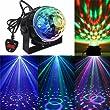 KINGSO Mini Disco DJ Stage Lights 5W LED RGB Sound Actived Crystal Magic Rotating Ball Lights Effect For KTV Xmas Party Wedding Show Club Pub Color Changing Lighting