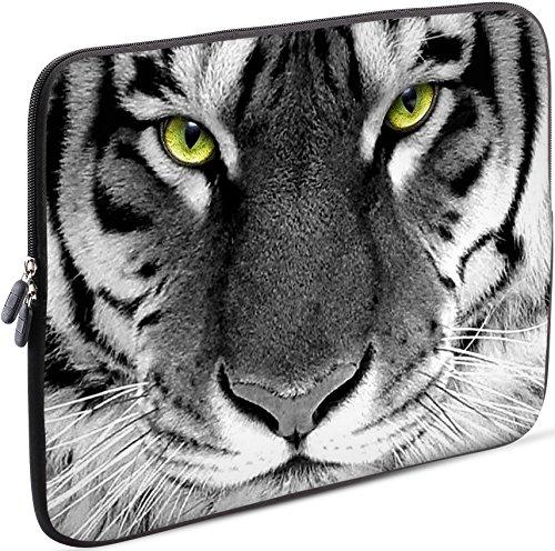Sidorenko Laptop Tasche für 14-14,2 Zoll | Universal Notebooktasche Schutzhülle | Laptoptasche aus Neopren, PC Computer Hülle Sleeve Case Etui, Grau