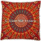 """26""""x 26"""" indio étnico Mandala funda para cojín, funda de almohada de decoración para el hogar, 100% algodón almohada Sham, cojines de almohada de meditación, Euro Sham almohada"""