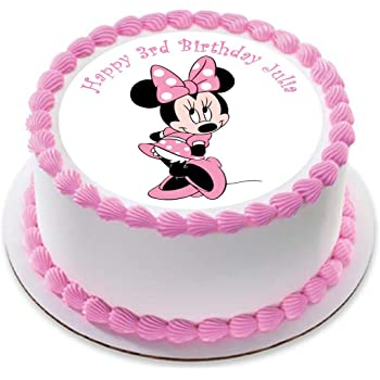 24 X Disneys 3rd Birthday Minnie Mouse Edible Cupcake Cake Toppers