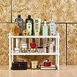 GaLon Scaffale for ripiani Scaffale seminterrato Scaffale resistente - mensola del bagno, mensola del bagno, mensola della cucina, scarpiera, mensola del pavimento di bambù soggiorno, corridoio, cucin