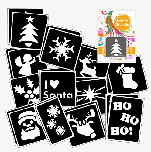 24-christmas-glitter-tattoo-body-art-stencil-pack