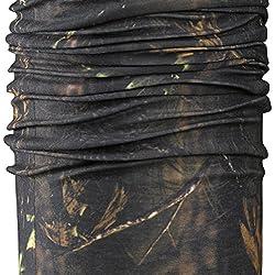 Camuflaje Fladen para pesca, multiusos (como sombrero, bufanda, pasamontañas, capucha, bandana, cinta para la cabeza), ideal para la mayoría de actividades al aire libre, marrón