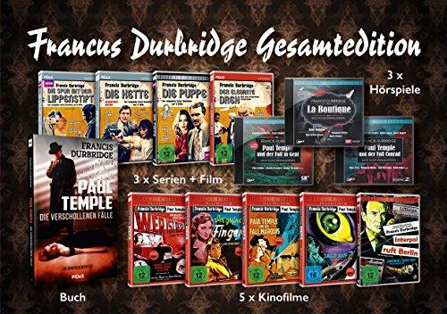 Francis Durbridge Gesamtedition (9 DVDs + 3CDs + Buch)