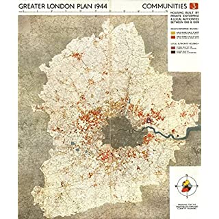 GREATER LONDON. Private & public housing built 1918-1939. ABERCROMBIE, 1944 map