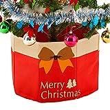 DELEY Christmas Prop Noël Décoration Cache Pied Sapin Couvre-pied de Sapin Multifonctionnel Cadeau Décor Stockage Organisateur Boîte Rouge