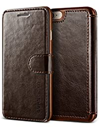 iPhone 8 Case/iPhone 7 Case VRS Design [Brown] High Quality PU Leather Case | Layered Dandy | Flip Wallet Cover with 3 Card Slots for Apple iPhone 8/Apple iPhone 7