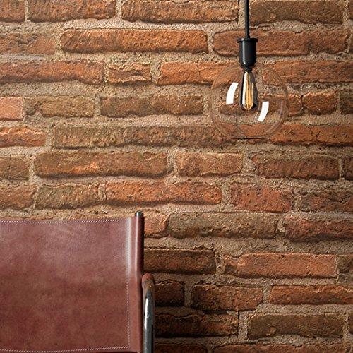 Steintapete Vlies Rot Braun Natur Stein   schöne edle Tapete im Steinmauer Design   moderne 3D Optik für Wohnzimmer, Schlafzimmer oder Küche inkl. Newroom Tapezier Profibroschüre mit super Tipps! - 2