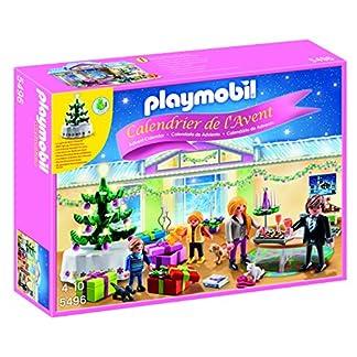 PLAYMOBIL – Calendario de Adviento Habitación de Navidad con Árbol Iluminado Juguetes y Juegos, Color Multicolor (5496)