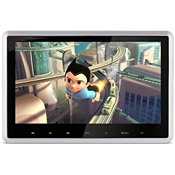 DDAUTO Videogeräte für Kopfstütze DVD-Player 10,1 Zoll 1080P HD Digital TFT-Bildschirm Touch-Tasten Monitor Multimedia-Optionen Unterstützt HDMI, USB SD-Karte mit komplettem Zubehör