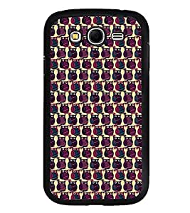 Fuson Premium 2D Back Case Cover Owl patterns With Green Background Degined For Samsung Galaxy Grand Neo::Samsung Galaxy Grand Neo i9060