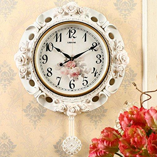 OLILEIO Le Salon Salon Chambre Simple moderne créatif européen montre horloge à pendule Réveil Quartz Personnalité Muet,20 pouces (50,5 cm de diamètre),BD8319S
