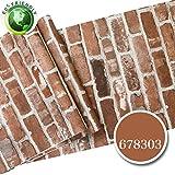 3d brick Tapete Kultur stein Wasserdicht Aufkleber Chinesischen stil retro-rotem backstein antik wand-sticker -A 53x1000cm(21x394inch)