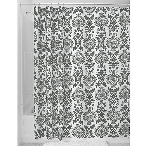 iDesign Damask Duschvorhang | hochwertiger Duschvorhang mit Ösen aus Metall| Designer Duschvorhang...