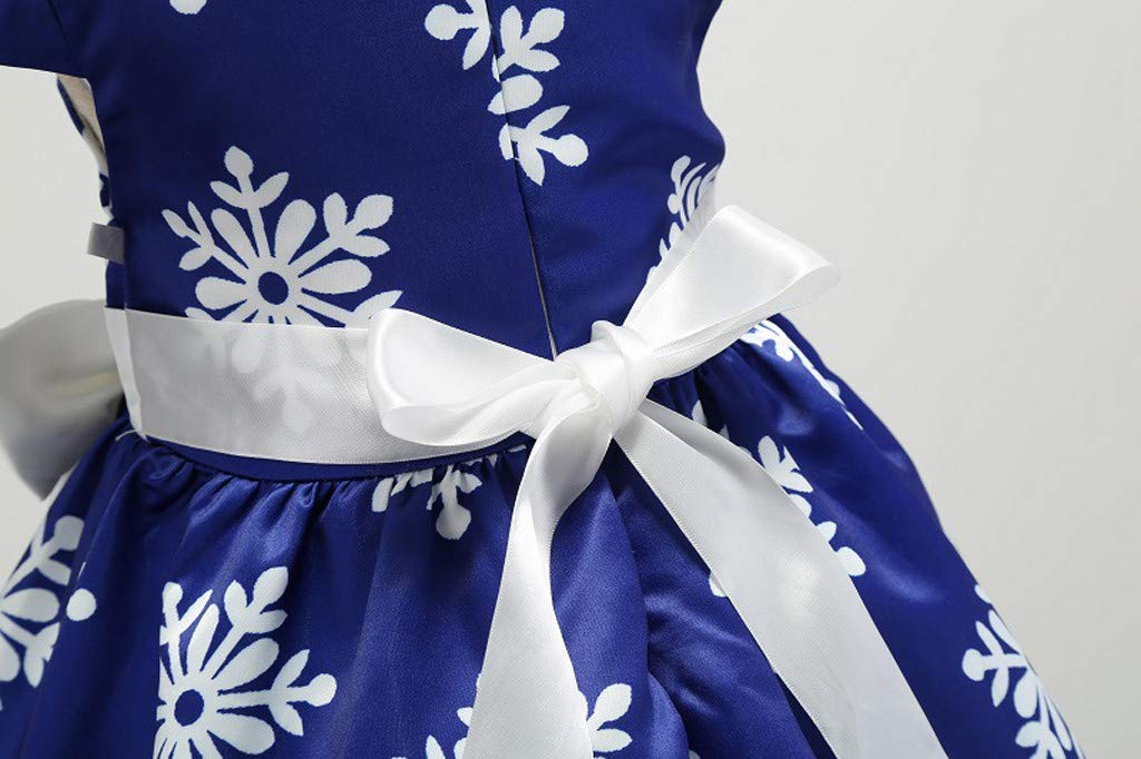 K-Youth Vestido Niña Navidad Copo de Nieve Estampado Vestido Princesa Niña Tutú Ropa Bebe Niña Bautizo Vestidos de… 5