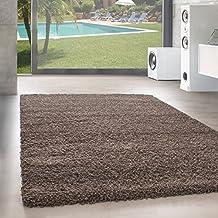 Shaggy Hochflor Langflor Teppich Wohnzimmer Carpet UNI Farben Rechteck Rund Farbe