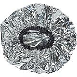 Lurrose 6 Piezas Gorro de Tratamiento Térmico Gorro de Baño Papel de Aluminio Gorro de Pelo Sombrero de Noche Cubierta de Cab