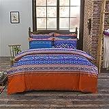 Bohemio 4 piezas 3d ropa de cama Mandala sábana de juego de funda de edredón y funda de almohada reina King Size, Bohemian-11, matrimonio