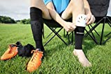 Kwik Goal Youth Shin Guard Compression Sleeves, Black
