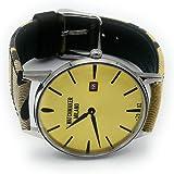 Watchmaker Milano Orologio Uomo Slim da Polso Vintage al Quarzo con Cinturino in Tessuto Fatto a Mano