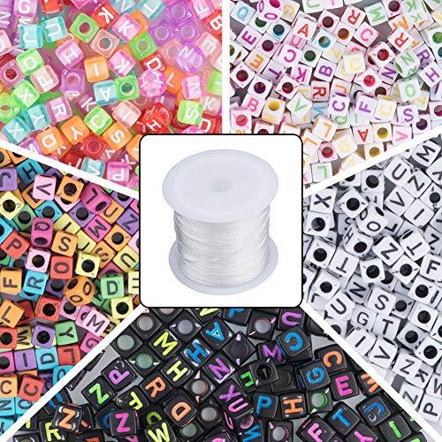 Novelfun 1400 cuentas 5 colores letras acrílico 1