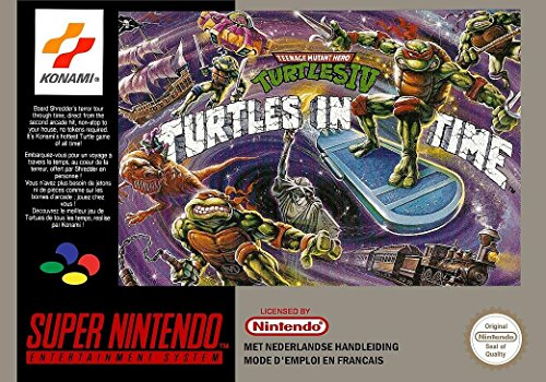 Teenage Mutant Hero (Ninja) Turtles IV: Turtles in Time (Super Nintendo, SNES) - PAL / Europäische Reproduktion Spielpatrone mit Replik (Video Ninja Turtle Spiele)