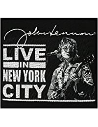 John Lennon Sew-On Patch Live in New York City 10 x 9.5 cm Woven