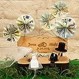 Hochzeitsbank mit Schnapsgläsern mit Gravur Ringe I Hochzeitsgeschenke für Brautpaare - personalisiertes Geschenk zur Hochzeit - Geschenke zum Hochzeitstag - 5