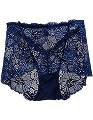 LUFA Women Lace Transparent High Waist Panties Lingerie Cute Briefs Pants Underwear