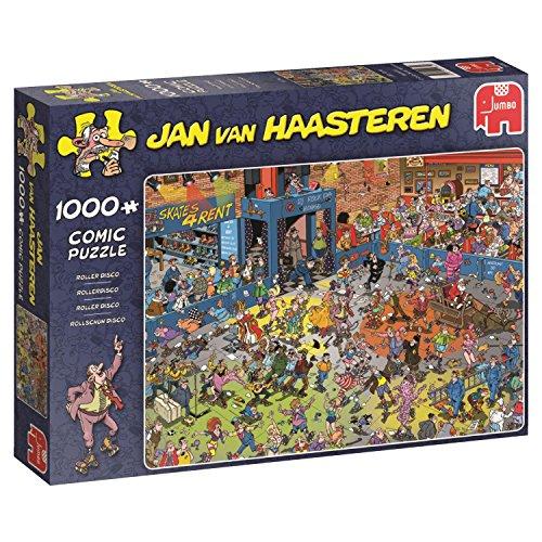 Jumbo Spiele 19060 - Jan Van Haasteren Puzzle - Rollschuh Disco 1000 Teile - Skating-filme Roller