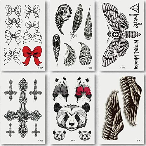 Lijinjin adesivo tatuaggiotemporaneos body art autoadesivi provvisori del tatuaggio del temporaneo autoadesivi coreani del tatuaggio della piccola farfalla fresca 10.5x6cm 6 fogli