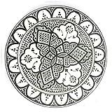 Marokkanischer Teller Safi Weiss, 22cm | bunte marokkanische Keramik Teller bunt aus Marokko | Große Keramikschalen flach Geschirr aus dem Orient handbemalt