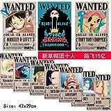 Road arAZB New (1 Lot de 10 pièces) Poster Une pièce Luffy 42 x 29 cm Anime Wanted (prêt à l'emploi)