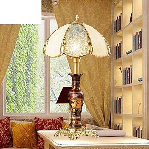 Messing Europäisch Anmutende Tischleuchte/Schlafzimmer Bett Lampe/Luxuriöse Amerikanische Tischleuchte/Retro-wohnzimmer-tischleuchte/Ehe Studie Messinglampe-A - Schlafzimmer Messing Bett
