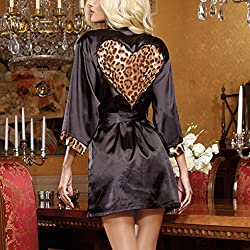 Gaddrt Women Look Sexy out Clubwear Dress Leopard Robe Sexy Underwear by Gaddrt